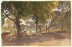 The artist's encampment. Between 1819 and 1826